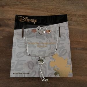 Mickey Mouse Two Tone Adjustable Bracelet LA Rocks
